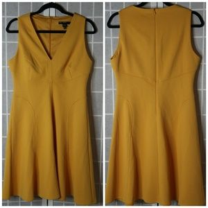[Maggy London] Mustard yellow Midi Dress
